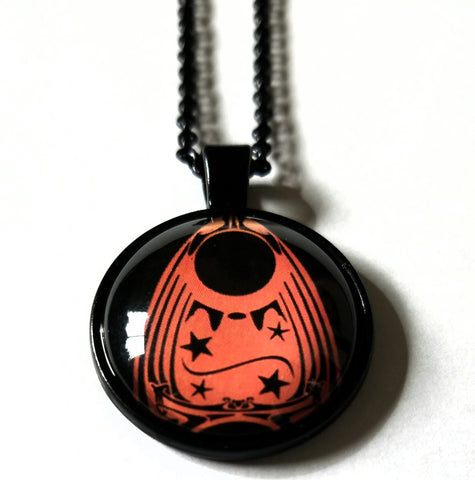 Orange Ouija Planchette Necklace
