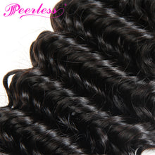 Load image into Gallery viewer, Peerless Remy Deep Wave Human Hair Weaves Bundles 4 Pieces 10-28 Inches Natural Color Human Hair Extensions Double Maching Wefts