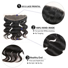 Load image into Gallery viewer, Peerless Body Wave Remy Human Hair Weaves 3 Bundles With 13*4 Lace Frontal Medium Brown Swiss Lace 100% Human Hair Natural Color Wefts