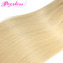 Load image into Gallery viewer, Peerless Remy Human Hair 613 Blonde Weaves 4 Bundles Deal For Women Natural Colored Human Hair Extensions