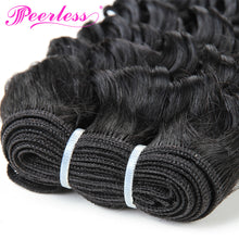 Load image into Gallery viewer, Peerless Kinky Curly Remy Human Hair 3 Bundles Deal 10-28 Inches Natural Color Human Hair Weaves For Black Women