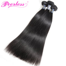 Load image into Gallery viewer, Peerless Straight Remy Human Hair Weaves 3 Bundles Deals For Black Women Natural Color Human Hair Extensions