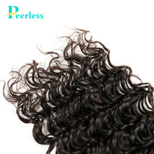 Load image into Gallery viewer, Peerless Virgin Hair Deep Wave Human Hair Weaves 3 Bundles Deal 10-28 Inches Natural Color For Black Women Hair Extensions