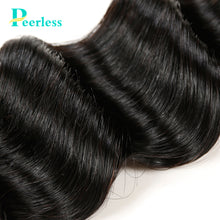 Load image into Gallery viewer, Peerless Virgin Hair Loose Wave Human Hair Weaves 4 Bundles Deal Natural Color Human Hair Extensions For Black Women