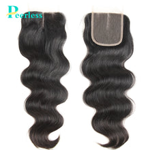 Load image into Gallery viewer, Peerless Body Wave Virgin Hair 4*4 Lace Closure 100% Unprocessed Human Hair Extensions