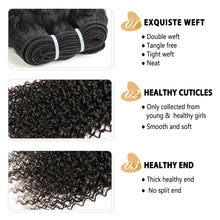 Load image into Gallery viewer, Peerless Remy Kinky Curly Human Hair Weaves Bundles 4 Pieces 10-28 Inches Bundles Deal Natural Color 100% Human Hair Extensions