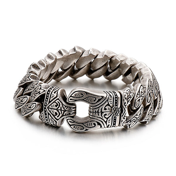 Bracelet Black Carving