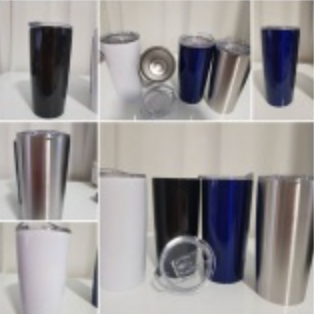 Double Wall Steel 20 oz Tumblers with Slide Close lid