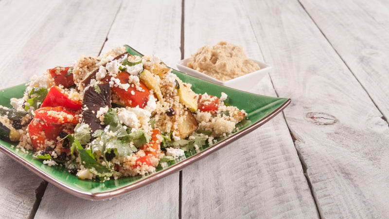 007 - Oven Roasted Veggie Couscous with Feta