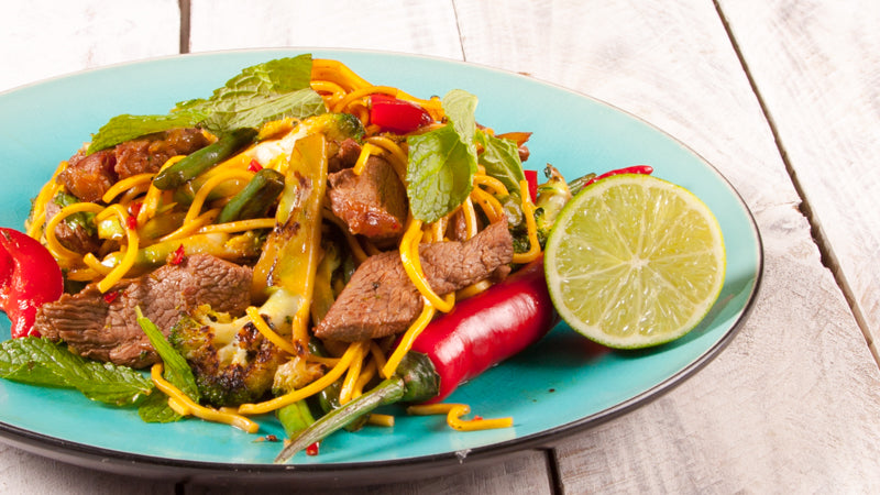 009 - Stir Fried Lamb  with Mint & Chilli