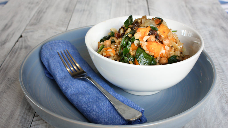 020 - Warm Pumpkin, Spinach and Barley Salad