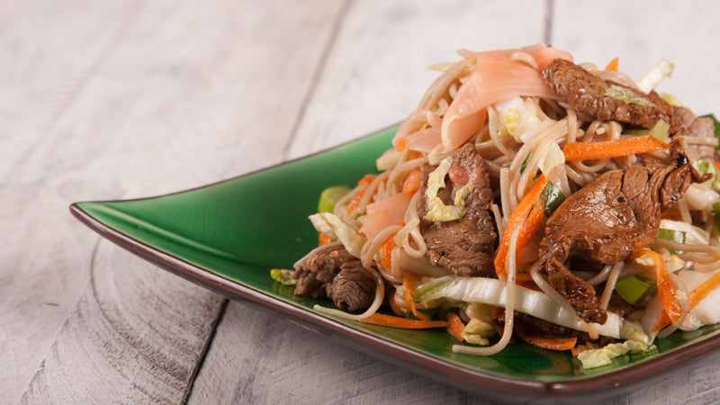 023 - Sizzling Wasabi Beef With Soba Noodles