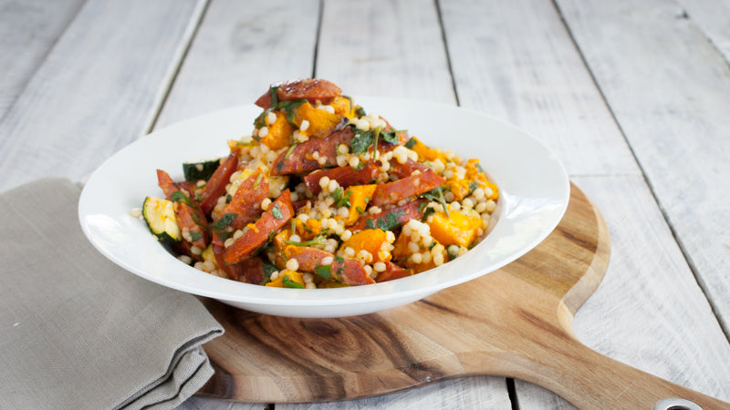 033 - Roasted Pumpkin And Chorizo Couscous