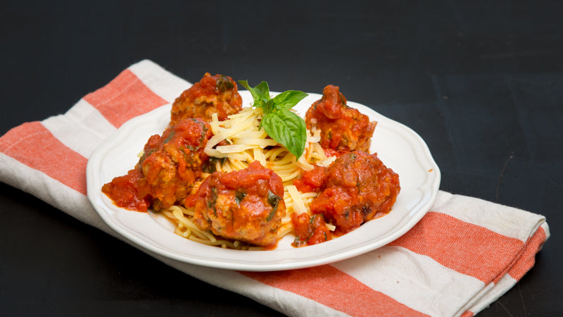 071 - Pork & Rosemary  Meatballs with Pasta