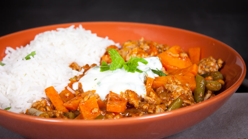 103 - Pork, Pea &  Sweet Potato Curry