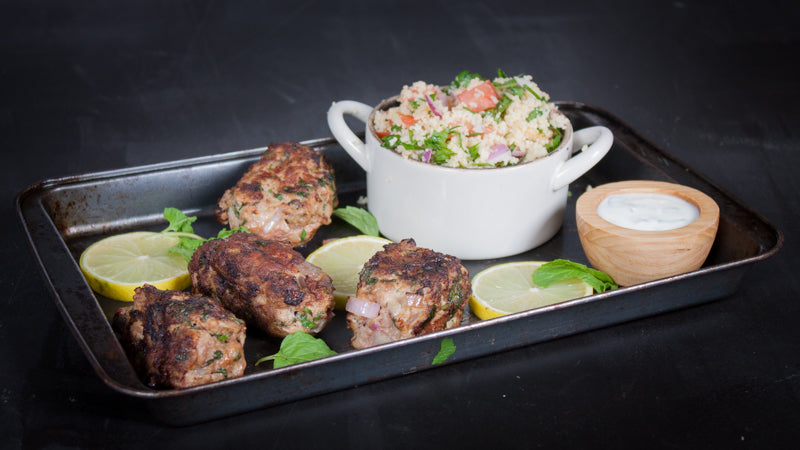 104 - Lamb Kofta with Tabbouleh