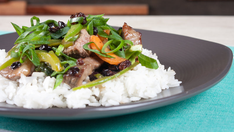 112 - Beef and Plum Stir-fry