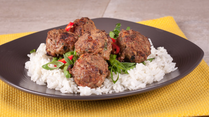 118 - Lamb Kofta with Green Beans and Rice