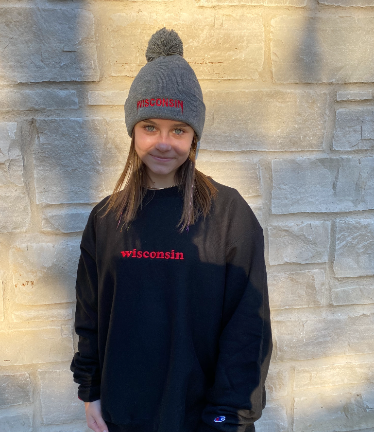Wisconsin Kanye Embroidered Beanie