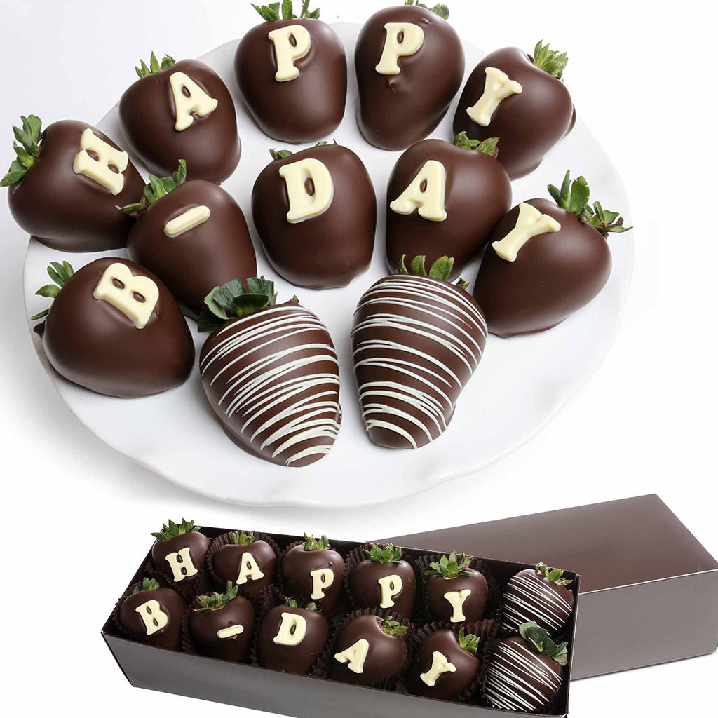 HAPPY B-DAY Belgian Chocolate Covered BERRY-GRAM®
