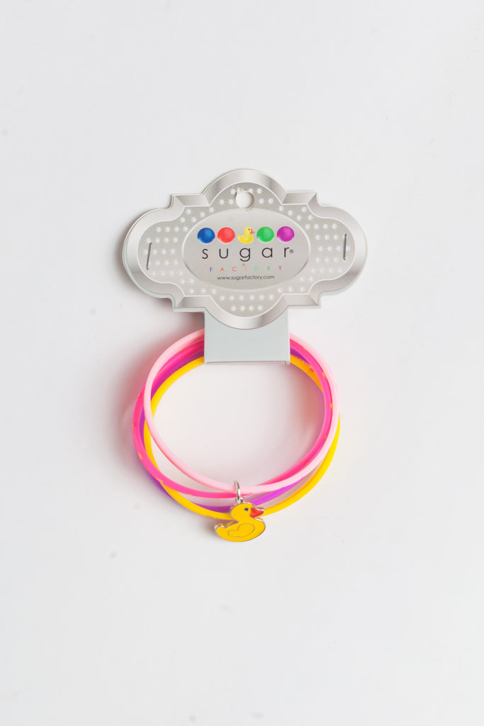 Silicon Bracelet with Duck Charm