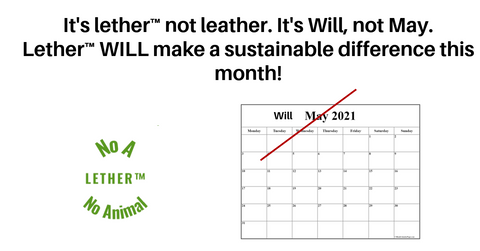 Lether will make a sustainable difference this month