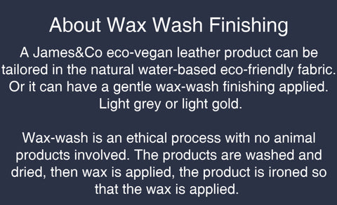 about wax wash finish