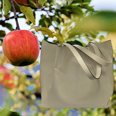 tote bag made in apple lether™