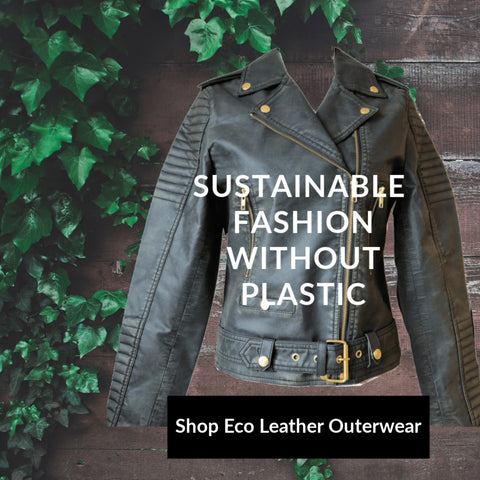 sustainable leather look jacket