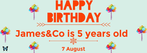 James&Co birthday banner