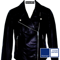 James&Co jacket with bluesign logo