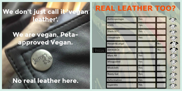 we are truly vegan.no real leather here.