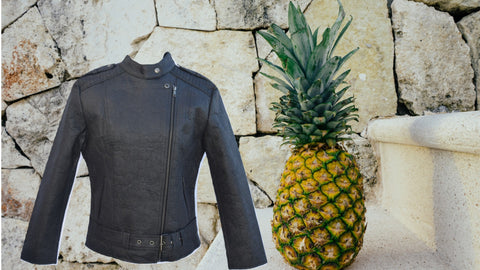 pinatex pineapple leaf leather jacket