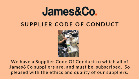 James&Co supplier code of conduct