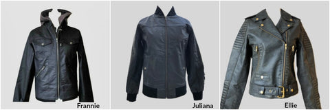 3 jackets in sustainable vegan leather