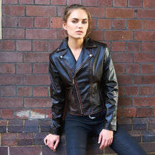 Load image into Gallery viewer, Sustainable Vegan Leather Biker Jacket Diane