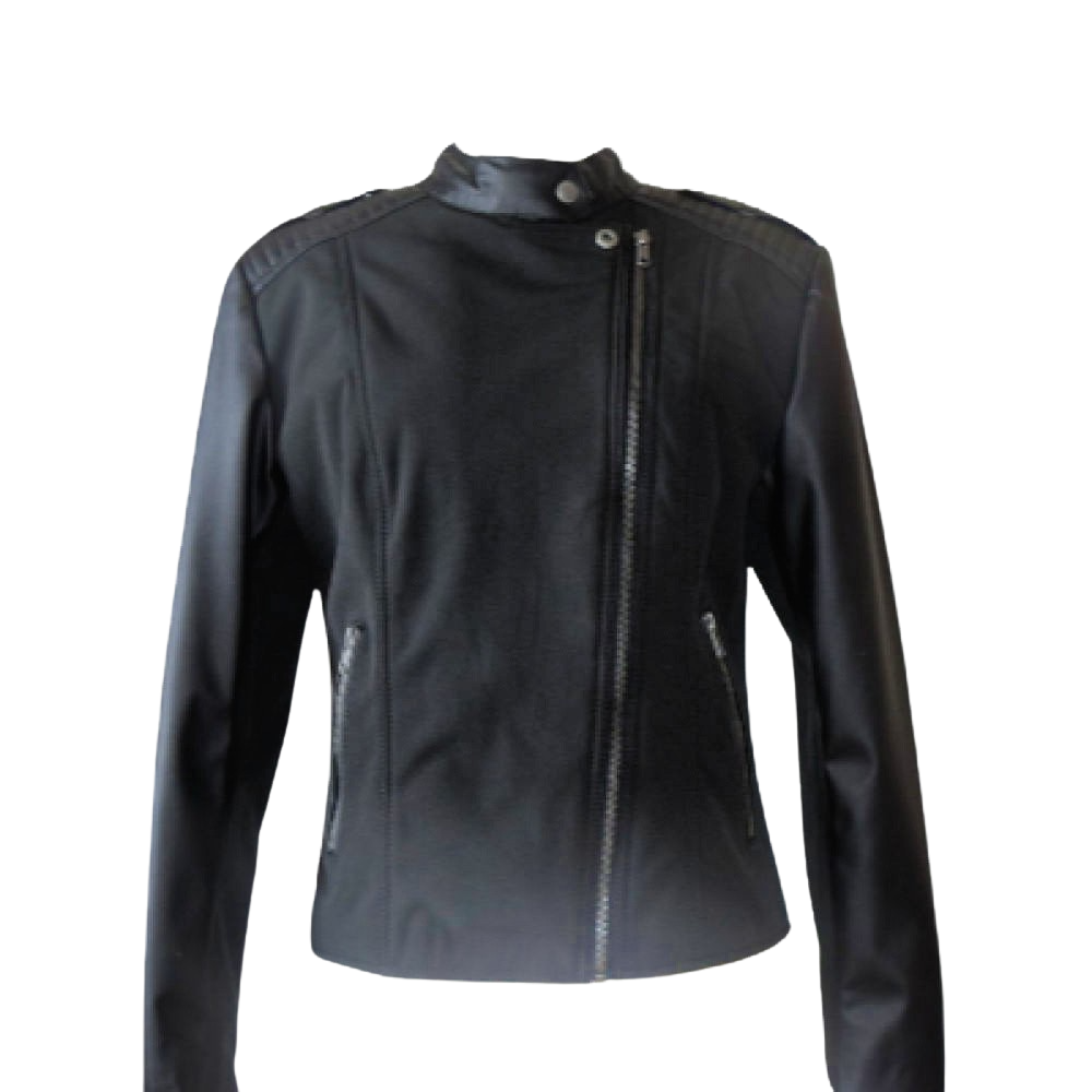 Womens Biker With Ponte And Sustainable Leather l Vegan l Eco