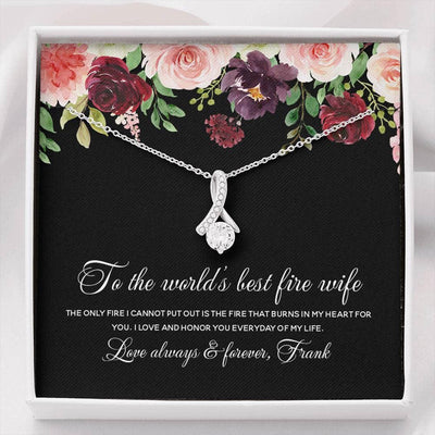 necklace gift for firefighter wife