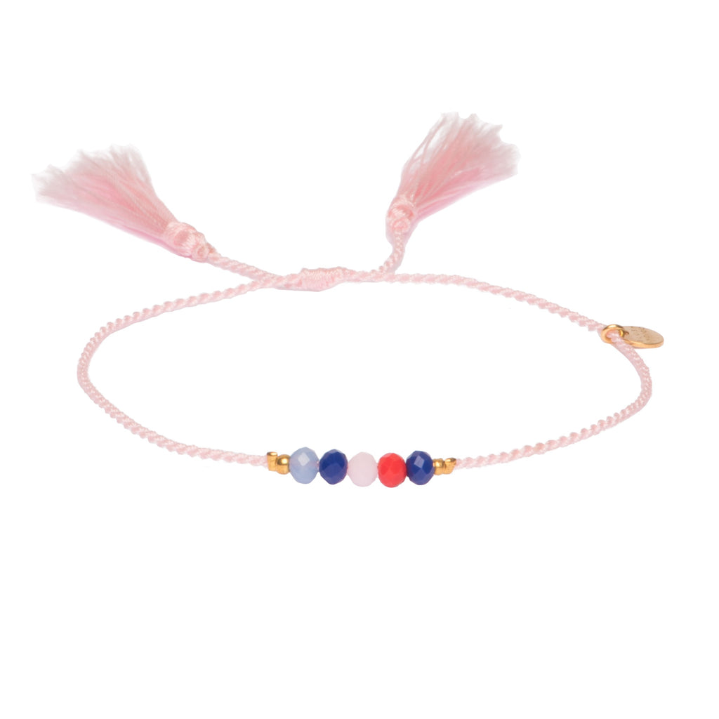 Armband Hello Tassel - Blush Mix