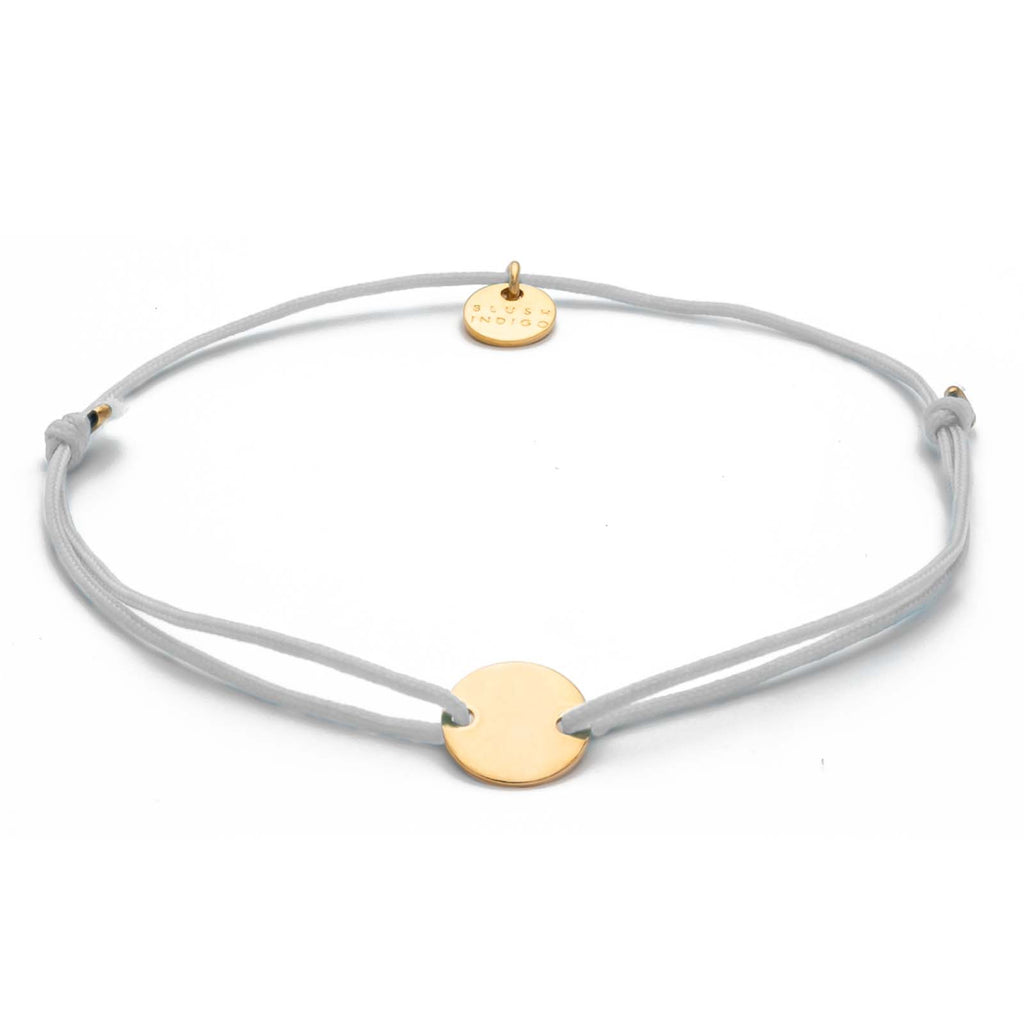 Armband Darling Disc gold – Light Grey