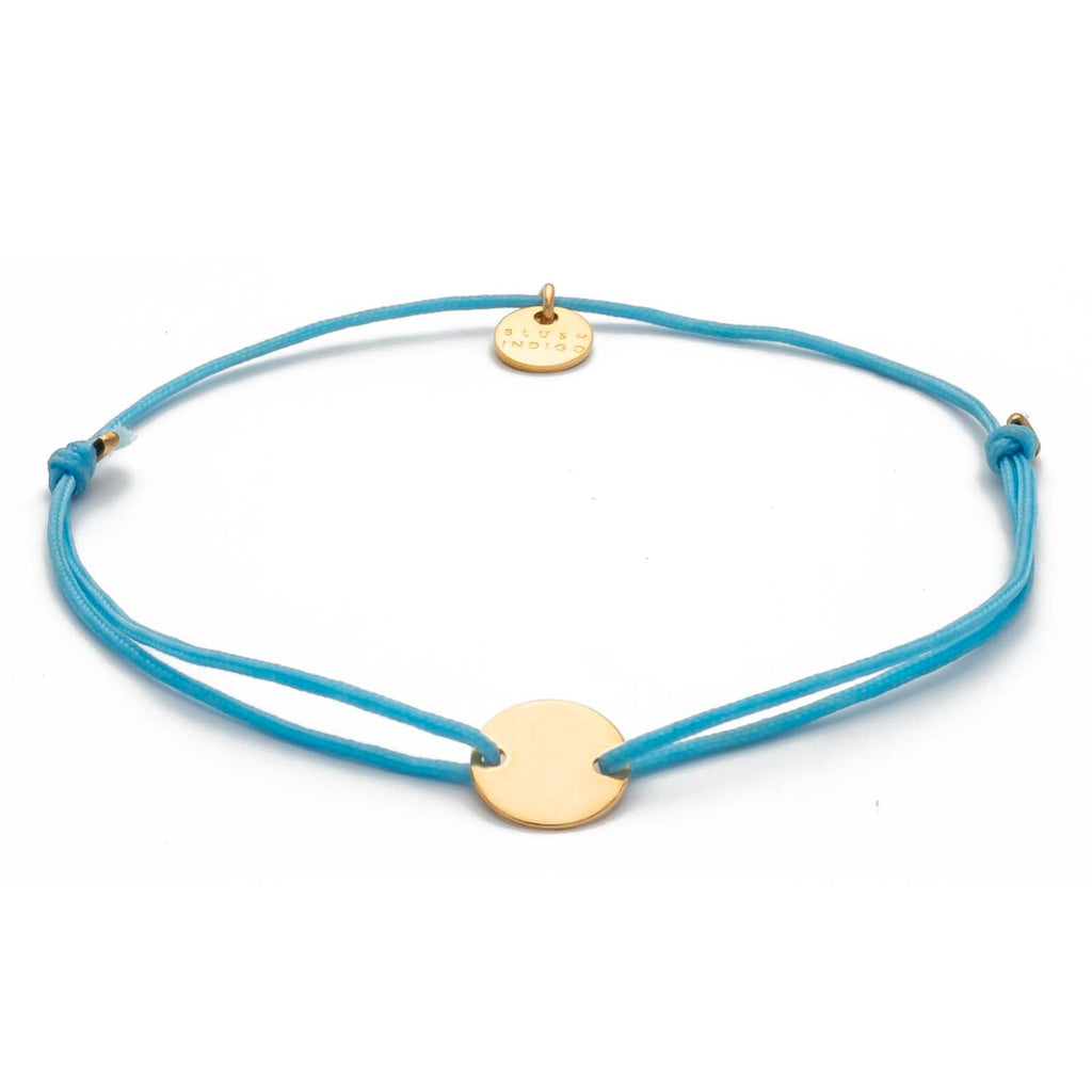 Armband Darling Disc gold – Sky Blue