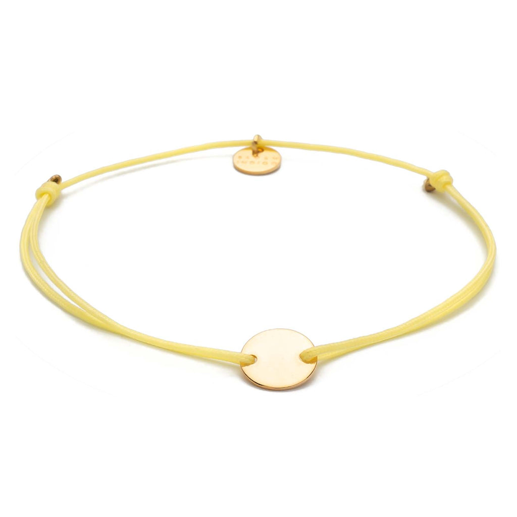 Armband Darling Disc gold – Soft Yellow
