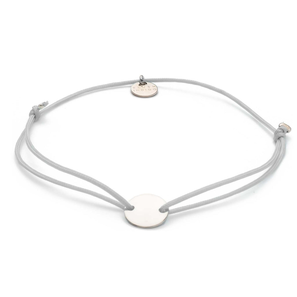 Armband Darling Disc silber – Light Grey
