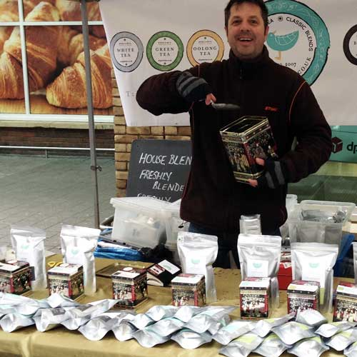 Nigel from Bergamia Tea at the Farmers' Market