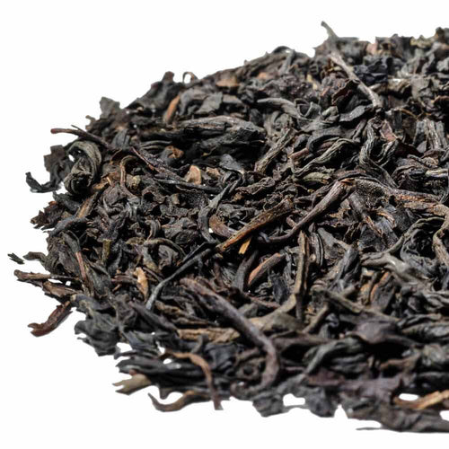A classic strong smoky Lapsang Souchong scented loose leaf black tea
