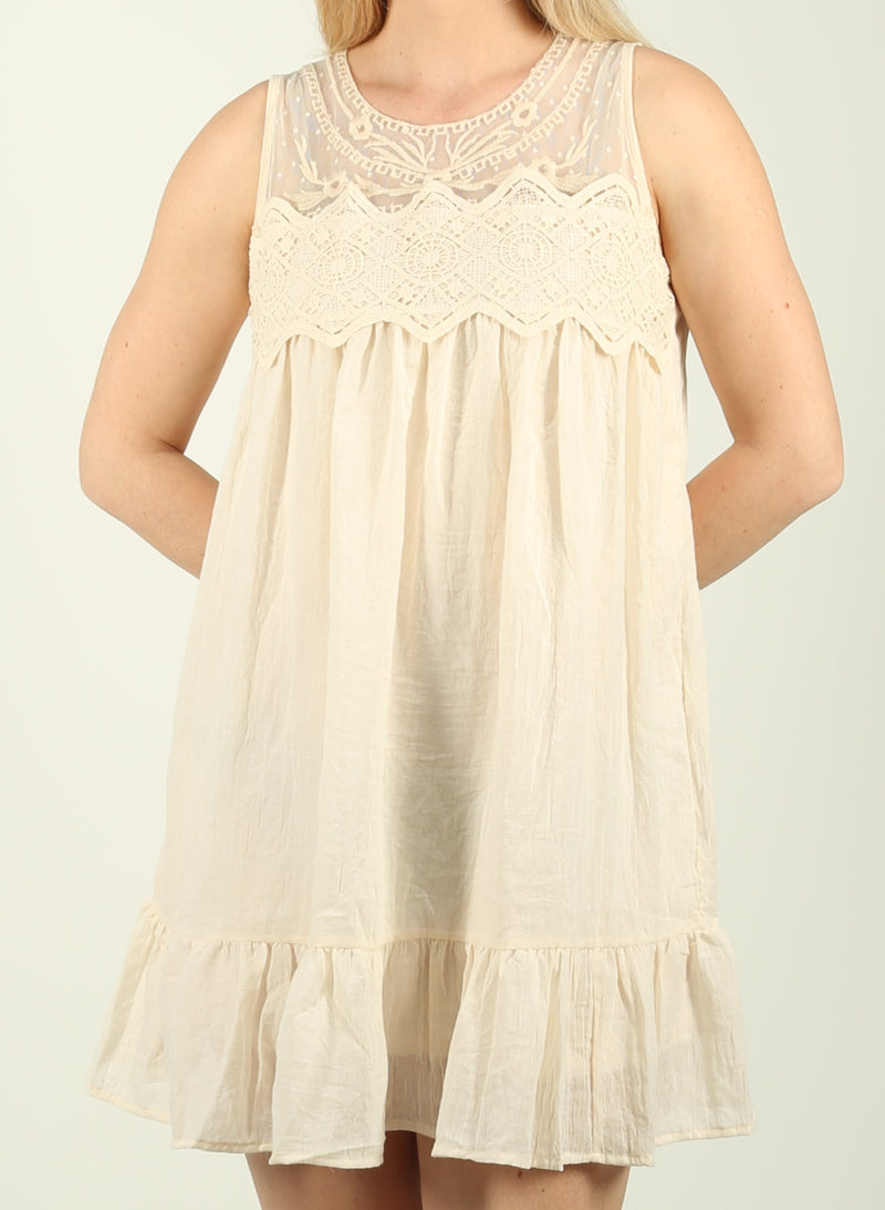Lace and Ruffle Dress
