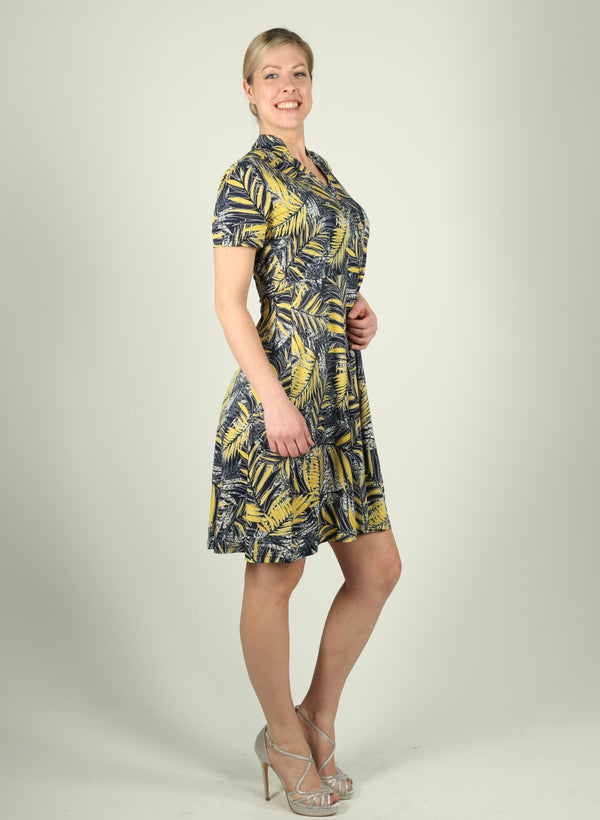 Leaves Print Dress