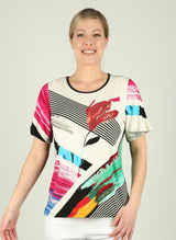 Multi Colour Graphic Top