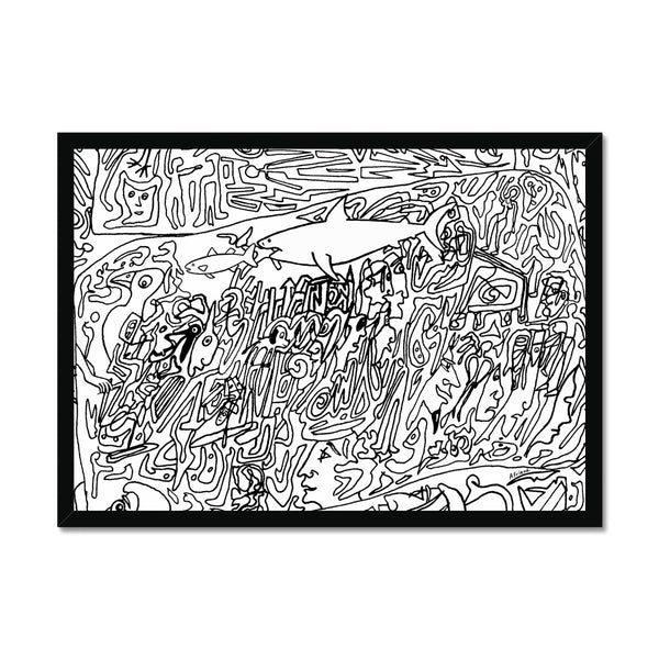Big fish eat little fish (alternate version) Framed Print