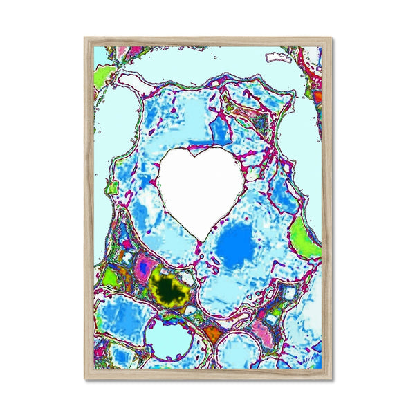 A heart as cold as ice Framed Print